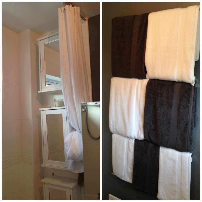 Bathroom Curtain and Towels