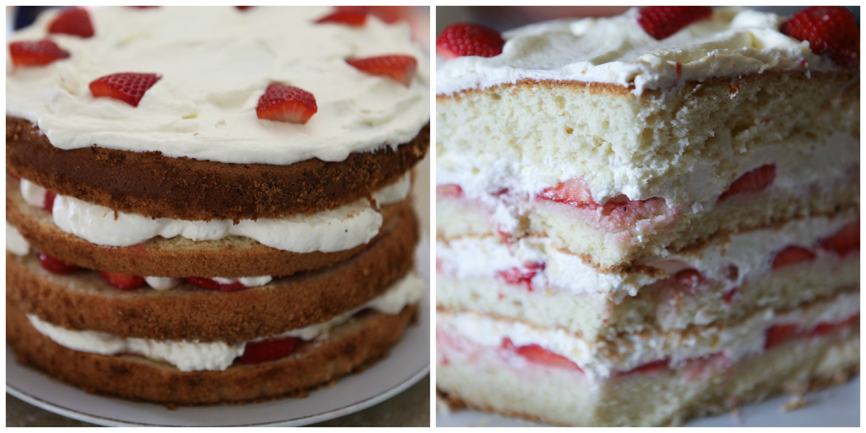 Strawberry & Cream Chiffon Cake: Gluten Free | A Home Made By ...