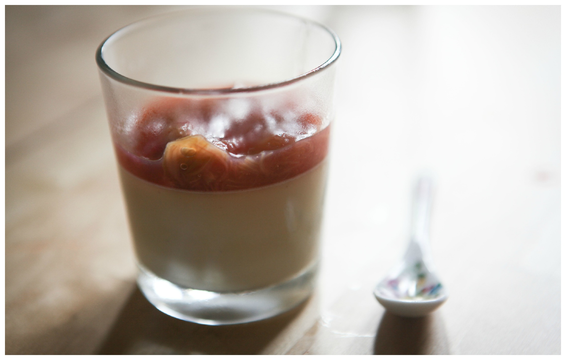White Chocolate Panna Cotta with Poached Rhubarb | A Home Made By ...