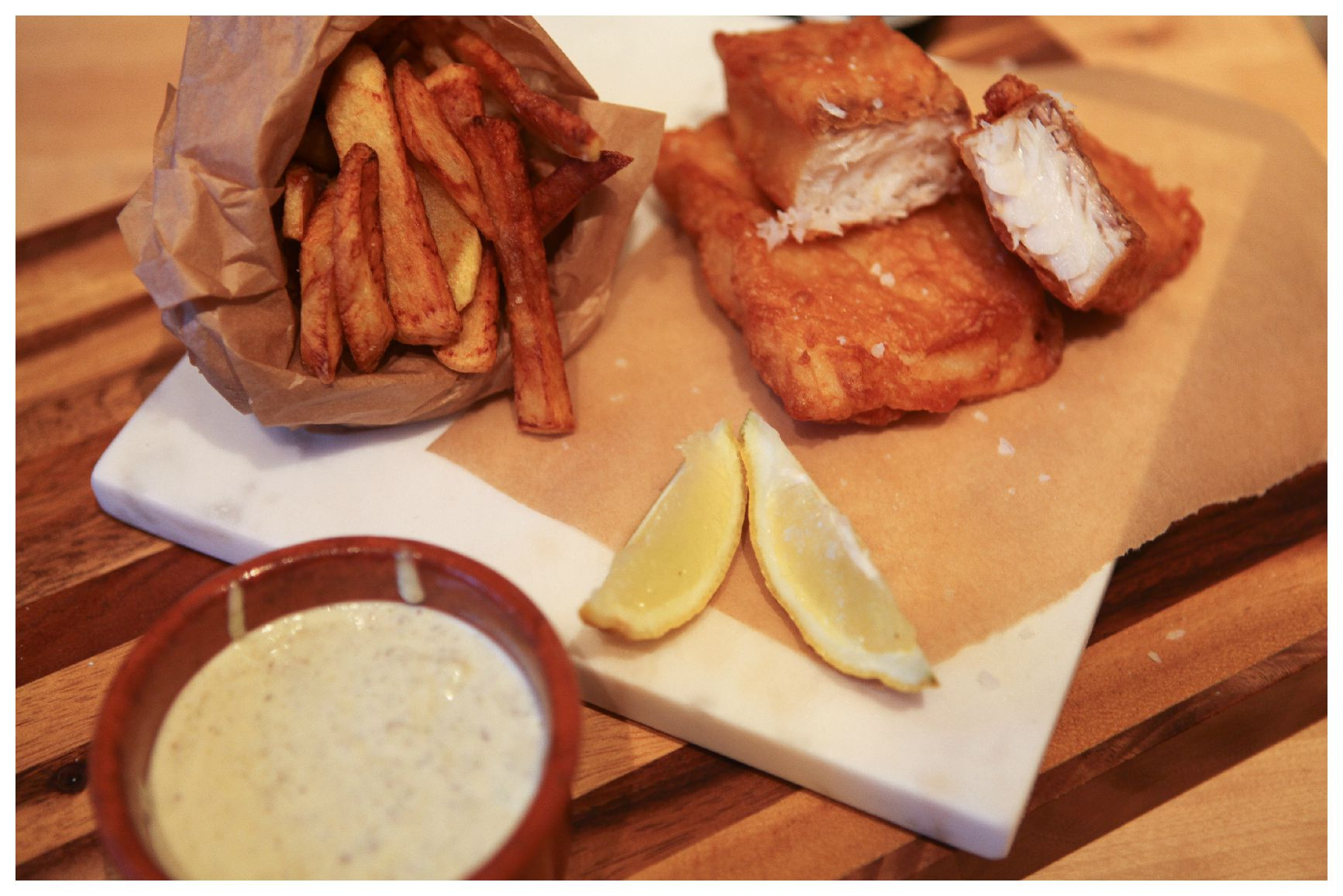Gluten free beer battered fish chips a home made by for How to make fish and chips